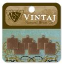 Vintaj Natural Brass Co. Jewelry Findings - Square Tag Altered Blank 9mm (6 pack)